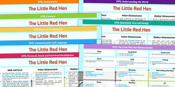EYFS The Little Red Hen Lesson Plan and Enhancement Ideas - planning, lesson ideas, story