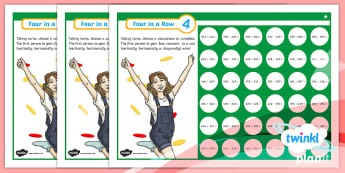 PlanIt Maths Y3 Addition and Subtraction Four-in-a-Row Differentiated Home Learning Tasks