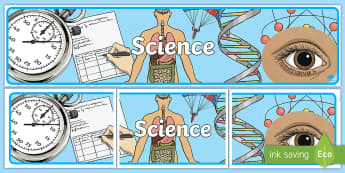 Science Display Banner - science, science display, banner