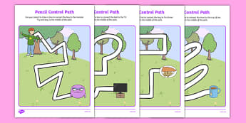 Not Right Now Pencil Control Path Worksheets - not now bernard, not right now, david, mckee, pencil control path
