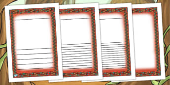 Mayan Civilization Themed Writing Frames - mayans, history, write