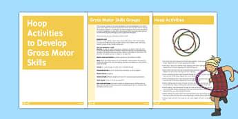 Hoop Gross Motor Skills Activities - gross motor, activities