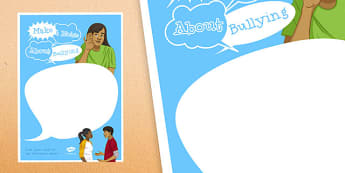 Anti-Bullying Week: Make a Noise about Bullying Speech Bubbles - anti-bullying week, make, noise, bullying, speech