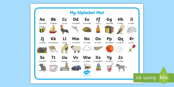 Alphabet A to Z French Word Mat - french, alphabet, picture, posters, display, letters