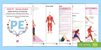 GCSE PE: The Structure and Function of the Muscular System Revision Booklet - PE, GCSE PE, Muscular systems, joints, movement, muscles