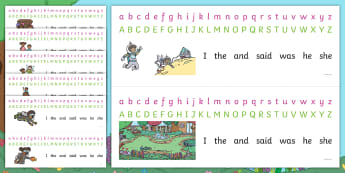 Treasures in the Garden Alphabet Strips - Twinkl Originals, Fiction, lost, Spelling, Writing Aid, Abc, Display, Table Top