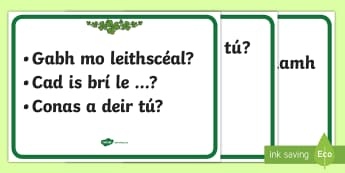 Everyday Questions and Phrases Display Posters Gaeilge - ROI - Irish Language Week Gaeilge Resources - 1st-17th March,Irish