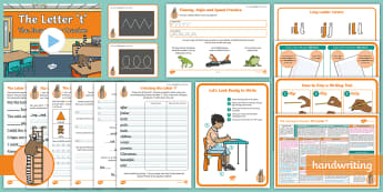 The Journey to Cursive: The Letter 't' (Ladder Family Help Card 4) KS1 Activity Pack - Nelson handwriting, penpals, fluent, joined, legible, handwriting