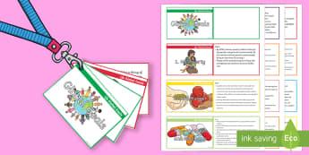 Lanyard-Sized Global Goals Cards - Sustainable Development Goals, Eco Schools, UNICEF, Sustainable Living, Global Goals,Scottish