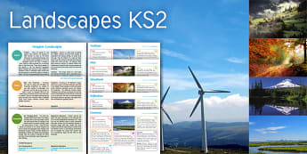Imagine Landscape KS2 Resource Pack - turbines, mist, woodland, reflection, contrast, maths, ratio and proportion, reflective symmetry, re