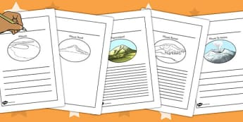 Volcanoes Writing Frames - volcanoes, writing frames, writing