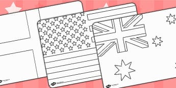 Football World Cup 2014 Country Flags Colouring Sheets - sports