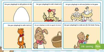 Saving Easter Playdough Mats - Children's Books, story, book, Easter, save, saving, Easter Bunny, bunny, bunnies, stories, chick,