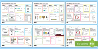 Year 2 Spring 1 Maths Activity Mats - Spring, maths mats, Year 1, add, addition, plus, altogether, sum, greater than, more than, total, fi