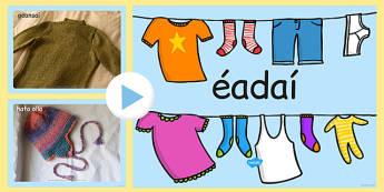 Clothing Photo PowerPoint Gaeilge - clothing, photo powerpoint, clothing photos, clothing images, clothing powerpoint, clothing images, clothing powerpoint