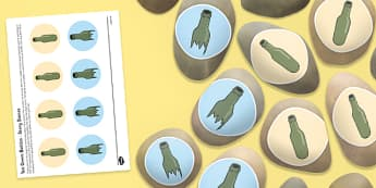 Ten Green Bottles Story Stones Image Cut-Outs - Story stones, stone art, painted rocks, Nursery Rhymes, song