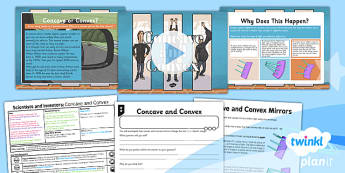 Science: Scientists and Inventors: Concave and Convex Year 3 Lesson Pack 5