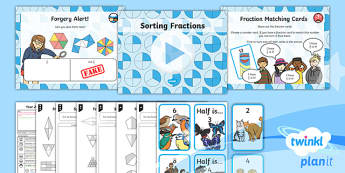 PlanIt Maths Y2 Fractions Lesson Pack Reasoning About Fractions