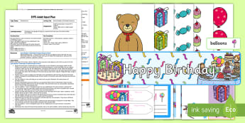 EYFS Same Number of Birthday Presents Adult Input Plan and Resource Pack - Mathematics, Numbers, Counting, Compare, More, Less, Fewer, Same, Amount, Birthday, Teddy Bears,  Ea