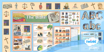 PlanIt RE: The Bible Year 4 Additional Resources - christianity, RE, church, god, holy book, sacred, religion, display, challenge cards, fact cards, ke