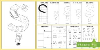 Consolidarea literei Ș Broșură - alfabetul, alfabetar, litere, sunete, grafisme,Romanian