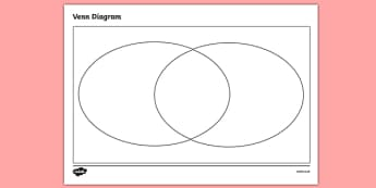 Venn Diagram Template 1 - venn diagram template, venn diagram, blank venn diagram, empty venn diagram, venn diagram frame, diagram templates, ks2 numeracy