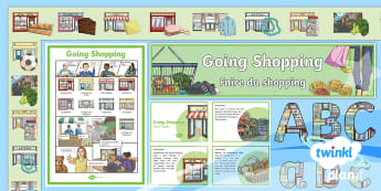 French: Going Shopping Year 4 Additional Resources - french, languages, grammar, shopping, food, clothes