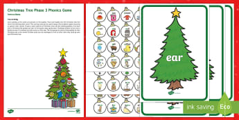 Christmas Tree Phase 3 Phonics Game - EYFS, Early Years, Christmas, Xmas, Christmas Festival, Phonics, Letters And Sounds, Phase 3, Letter