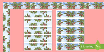 Strawberry Season Display Borders - strawberries, strawberry plants, strawberry farming, strawberry picking, strawberry plant life cycle