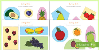 Fruit Themed Cutting Skills Activity Sheets - Scissors, cut-outs, fruit, fine motor skills, activity sheets, worksheets