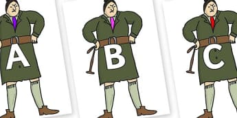 A-Z Alphabet on Mrs Trunchbull to Support Teaching on Matilda - A-Z, A4, display, Alphabet frieze, Display letters, Letter posters, A-Z letters, Alphabet flashcards