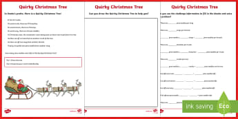 Quirky Christmas Tree Maths Challenge Activity