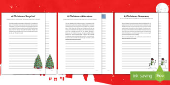 Christmas Story Starters CfE First Level  Writing Activity Sheet - Christmas, Creating Texts, Writing, Imaginative, Literacy,Scottish