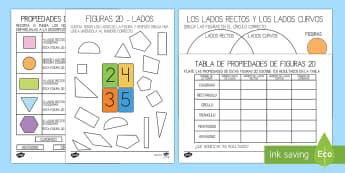 Las propiedades de las formas 2D Pack de recursos