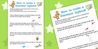 Dinosaur Lapbook Instructions - lapbooks, instructions, dinosaur