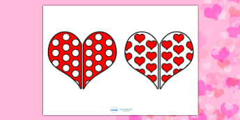 Valentine's Day Heart Pattern Matching Activity - matching activity, matching, valentines day, valentines, valentines patterns, valentines day matching activity, valentines day matching, activity, pattern matching, patterns, pattern, snap