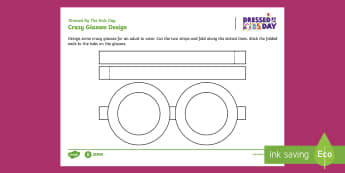 Dressed by the Kids Day Glasses Design Activity Sheet - oxfam, charity, events, outfit, costume, fancy dress, dressing up, worksheet