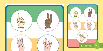 European Counting Hands Display Poster - european counting, count, hands, countng,couting, coutning, xounting, fingers