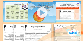 PlanIt Y4 Explorers: James and the Giant Peach Lesson Pack Play Scripts 3 - Explorers: James and the Giant Peach, Roald Dahl, play script, scene, colon, stage directions, brack