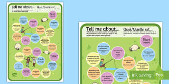 Getting to Know You Board Game - English/French - Getting to Know You Board Game - getting to know, board game, EAL French, French-translation