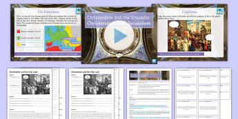 Christendom and the Crusades - Christendom and Jerusalem Lesson Pack  - Secondary, History, Christendom and the Crusades, Jerusalem, Roman Catholic, Islam, Orthodox