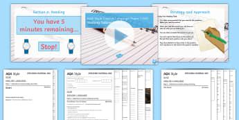 005 - AQA Style Paper 1: Walking Talking Mock Exam Questions Pack - AQA, walking talking mock, paper 1, English language, Exam questions, GCSE English