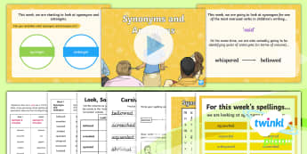 PlanIt Spelling Year 6 Term 3B W1: Synonyms and Antonyms for Said Spelling Pack - Spellings Year 6, Y6, spelling, spell, packs, words, lists, tests, SPaG, GPS, synonyms, antonyms, sa