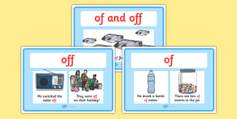 Of And Off Display Posters - of and off, of, off, display, poster, sign, difference between of and off, spelling, spelled differently, different, KS2, literacy