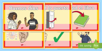 Spanish Classroom Commands on Flag Themed Display Poster - French Classroom Commands Posters - france, languages, EAL  , coma