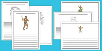 Maori Gods Writing Frames - nz, new zealand, maori gods, writing frames