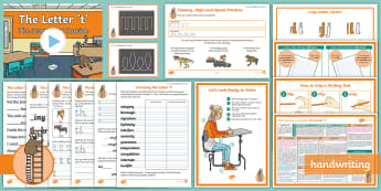 The Journey to Cursive: The Letter 't' (Ladder Family Help Card 4) KS2 Activity Pack - Nelson handwriting, penpals, fluent, joined, legible, handwriting