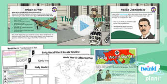 History: World War II: The Outbreak of War UKS2 Lesson Pack 1
