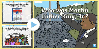 Who was Martin Luther King, Jr.? PowerPoint - Civil Rights, i have a dream, black history month, famous african americans, social studies, Early C