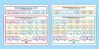 Levelled Guided Reading Questions Mats Polish Translation - polish, books, question, level